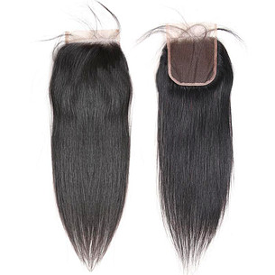 aliqueen hair product straight hair natural black 5x5 swiss lace closure human hair