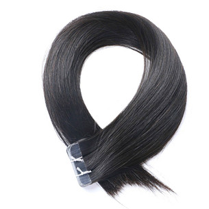 hair extensions tape in natural straight virgin remy hair color #1b