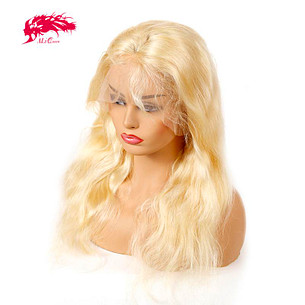 hot sale 613 blonde wigs body wave brazilian remy hair 13x6 lace front wig