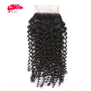 new arrival high quality kinky curly 4*4 lace closure cheap hair products from china