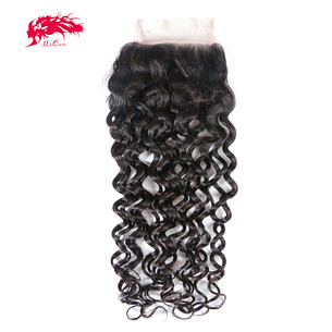 new arrival water wave 4*4 lace closure cheap hair products from china