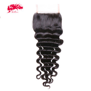 hair products loose deep brazilian virgin hair natural color 10 to 20 inch 100% human hair free part swiss lace closure