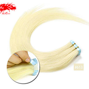 tape in hair color 613 straight hair human hair extension color hair