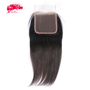 good quality straight 4x4 hd lace transparent lace swiss lace with baby hair remy hair extensions