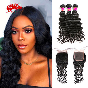 hair brazilian remy hair 3 bundles natural wave with 1 4x4 lace closure